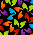 rainbow colored background with leaves vector image vector image