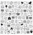 Line icons Logistics icons Logistics background vector image