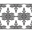 Tribal black and white seamless pattern vector image