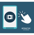 Interactive technology design vector image