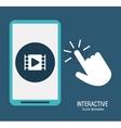 Interactive technology design vector image