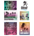 Summer Travel and Vacation Backgrounds vector image vector image