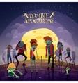 Zombie Apocalypse Background vector image