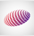 abstract rugby ball vector image