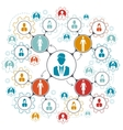 Business people team work managment structure vector image