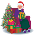 Christmas gift for the beloved granny vector image