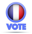 circle symbol of election 2017 in france vector image