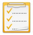 Clipboard with Checklist Icon vector image