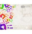 Colorful handprint design vector image