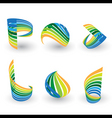 logo spiral vector image