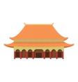 Pagoda temple icon cartoon style vector image