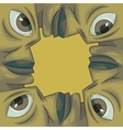 picture frame formed out of four faces vector image