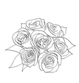 Rose with leaves vector image