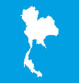 thailand map icon white vector image
