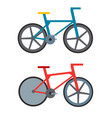vintage retro bicycle and style antique sport old vector image