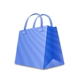 Shopping paper bag vector image vector image