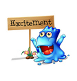An excited monster vector image