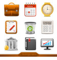 Business icons set 1 vector image