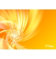 Orange abstract swirl vector image vector image