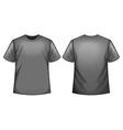 Grey shirt vector image vector image