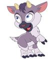 cute cartoon little goat vector image