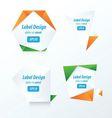 LABEL DESIGN Origami styles vector image