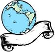 Globe Banner 1 vector image vector image