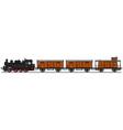 Classic steam train vector image