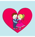 boy and girl happy valentines day vector image