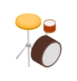 Drum kit icon isometric 3d style vector image
