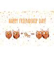happy friends enjoying friendship day vector image