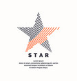 modern logo star in a futuristic style vector image