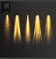 realistic stage lights or concert spotlights vector image