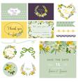 Scrapbook Design Elements - Wedding Spring Flower vector image
