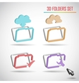 set of web folder vector image