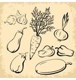 Vegetables Pictograms Set vector image