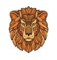 Lion painted tribal ethnic ornament Hand drawn vector image
