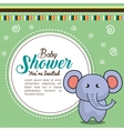 invitation baby shower card with elephant desing vector image