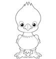 eagle outline vector image vector image