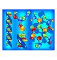 molecule of dna vector image vector image