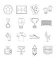 Soccer football icons set outline style vector image vector image