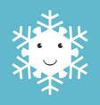 happy snowflake character vector image vector image
