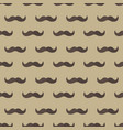 mustache seamless patterns father s day holiday vector image