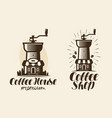 coffee espresso logo or label element for design vector image