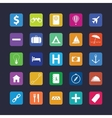 Flat travel icon set vector image