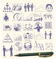 Sketch business composition vector image
