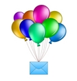 Balloons with mail Vector Image