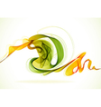 Abstract background with wave vector image