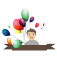boy with balloons1 vector image
