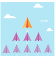 Creative paper rocket sign and white cloud vector image